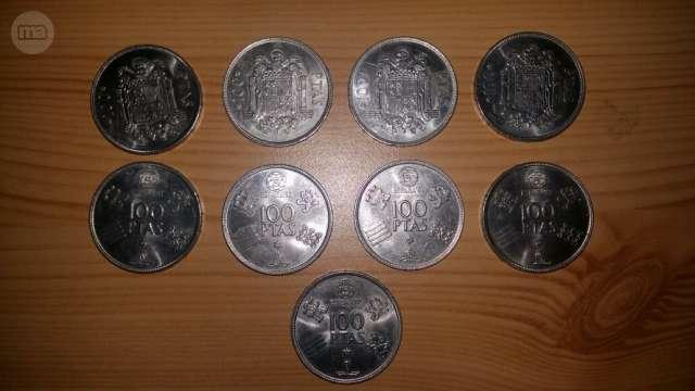 Gran Lote 9 Monedas De Coleccion De 100: