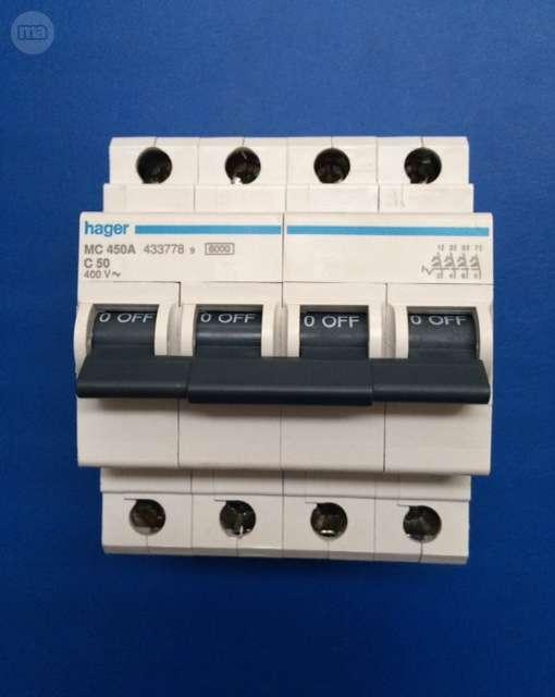 Interruptores 4 P Magnetotermicos Hager