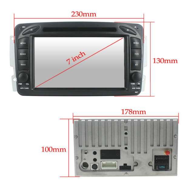 NAVEGADOR GPS DVD MERCEDES W203 W168