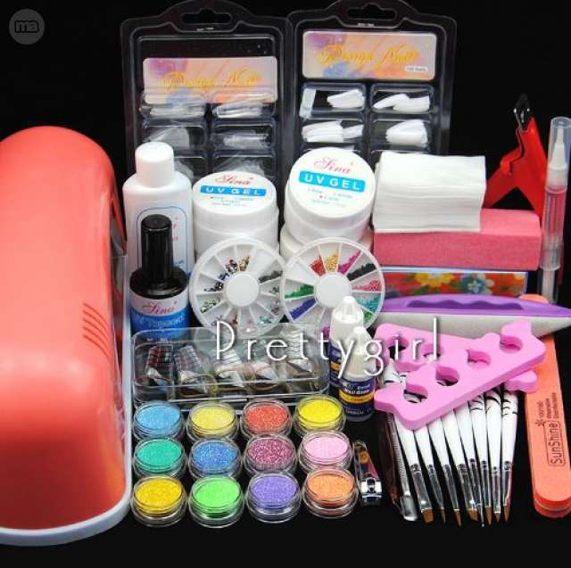 KIT DE GEL PARA UÑAS + LAMPARA 9W - foto 1
