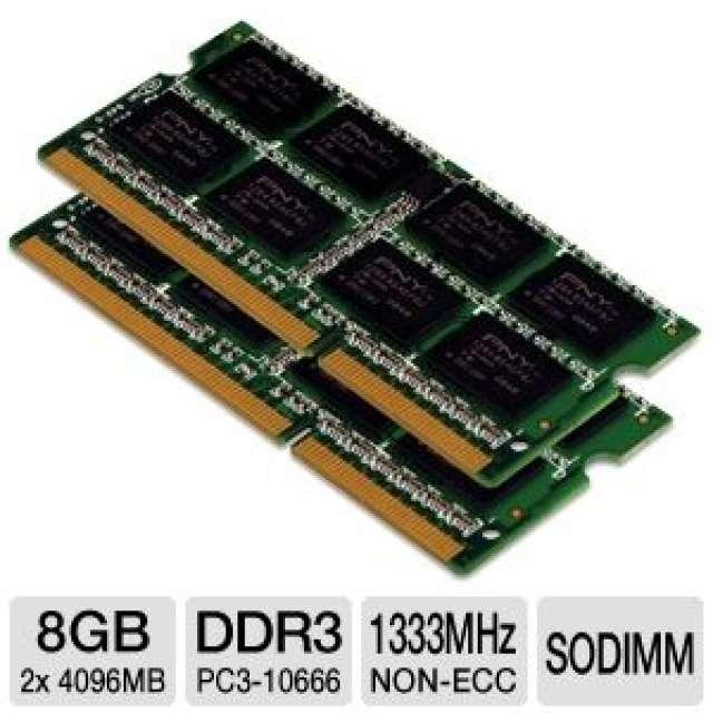 PACK 2 RAM 4GB SODIMM DDR3 1333 MARCA