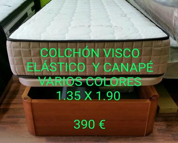 COLCHÓN Y CANAPÉ 1. 35 X 1. 90. 390