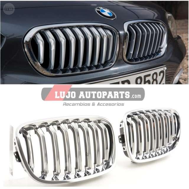BMW 3 E90 E91 SLN /& est 2005 /> 2008 Par Izquierda /& Rejilla de riñón derecho Negro y Cromo