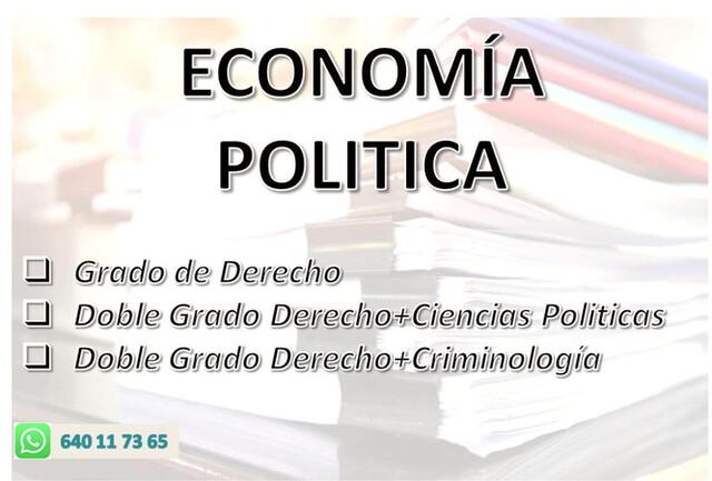 ECONOMIA POLITICA (MICRO MACRO)