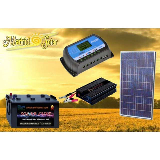 Placa Solar  Regulador Bateria  Inversor