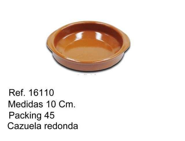 CAZUELA DE BARRO 10 CM.