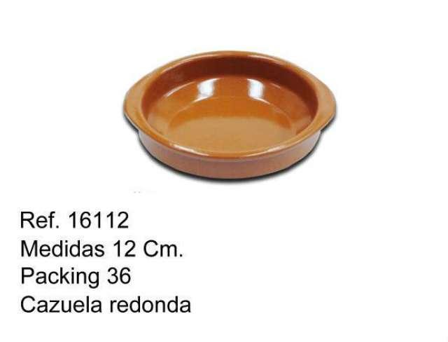 CAZUELA DE BARRO 12 CM.