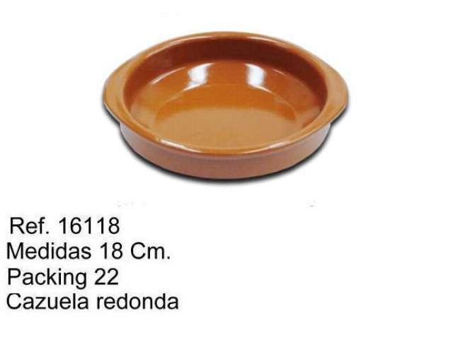 CAZUELA DE BARRO 18 CM.