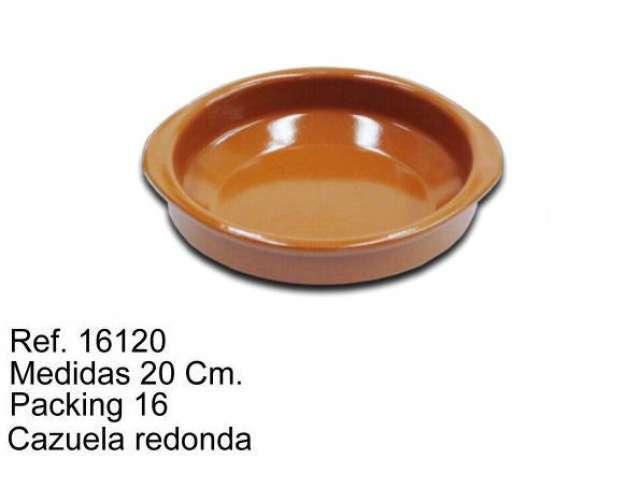 CAZUELA DE BARRO 20 CM.