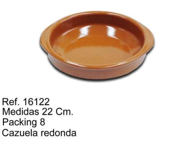 CAZUELA DE BARRO 22 CM.