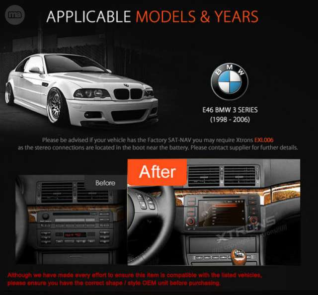 PANTALLA GPS DVD DVB TDT BMW E46 SERIE 3