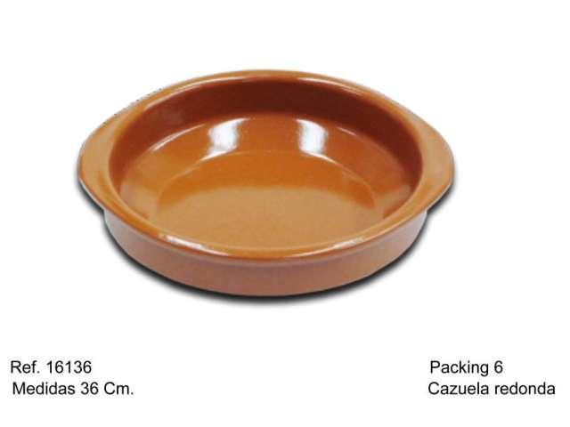 CAZUELA DE BARRO 36 CM.