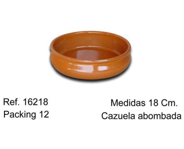 CAZUELADE BARRO ABOMBA 18 CM.