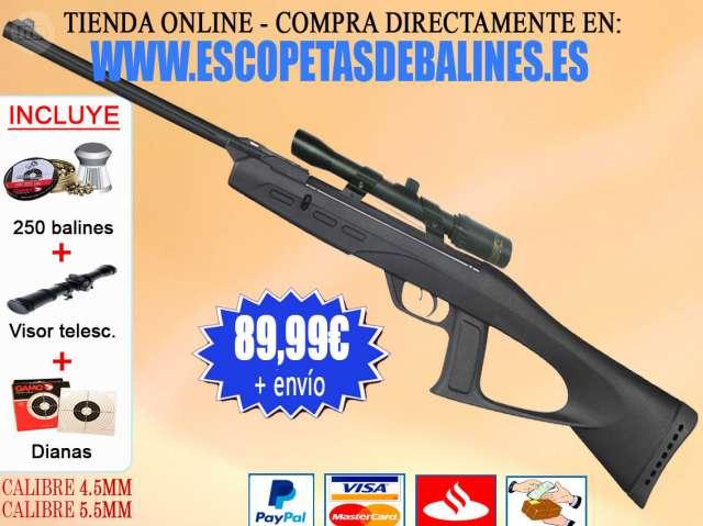 ESCOPETA GAMO DE AIRE COMPRIMIDO PACK