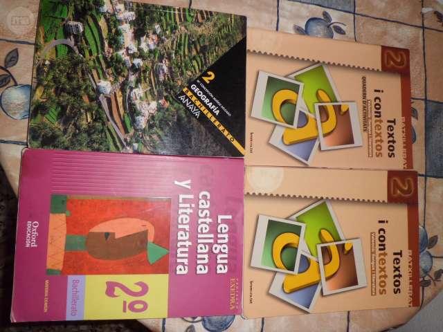 VENDO LIBROS 2º BACHILLERATO