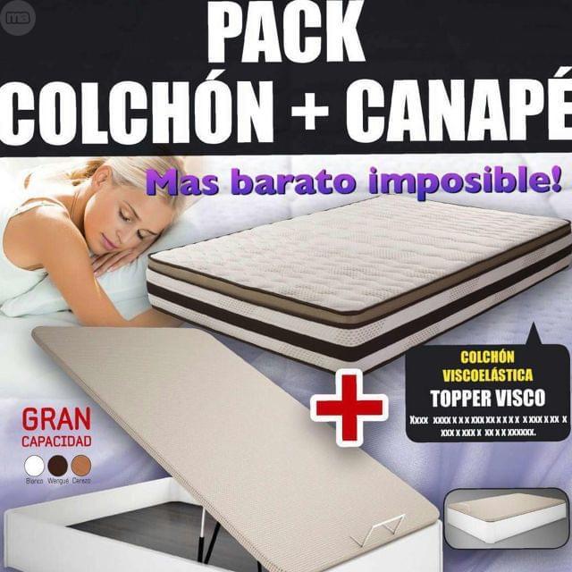 219 CANAPÉ Y COLCHÓN VISCO TOP 135 X190