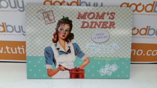 Placa De Madera Retro Mom S Dinner
