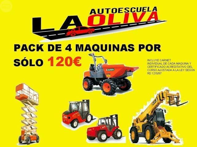 CURSO DE CARRETILLAS - 4 MÁQUINAS 120