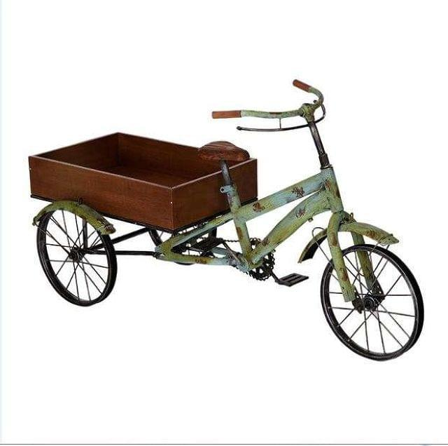 CARRO EXPOSITOR BICI METAL MADERA