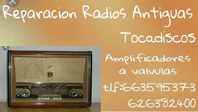 REPARACIÓN RADIOS Y TOCADISCOS ANTIGUOS