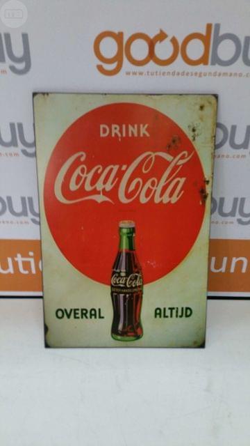 Cuadro Madera Cartel Coca Cola