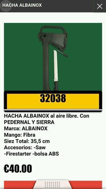 HACHAS VARIADAS
