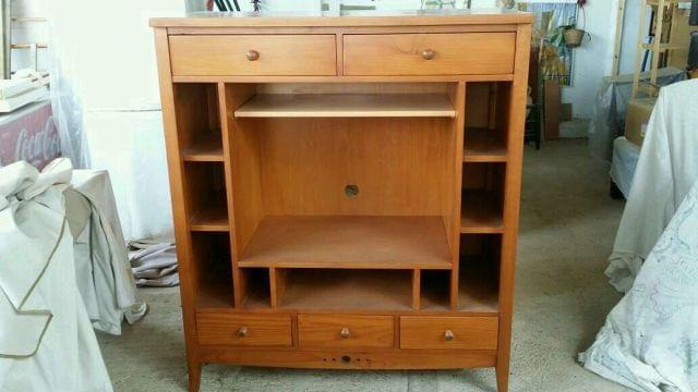 mueble provenzal de madera para salon