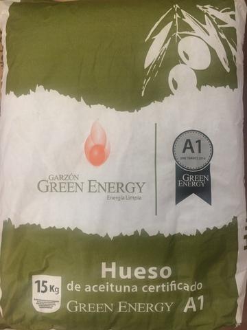 SACO DE HUESO DE ACEITUNA de 20 KG