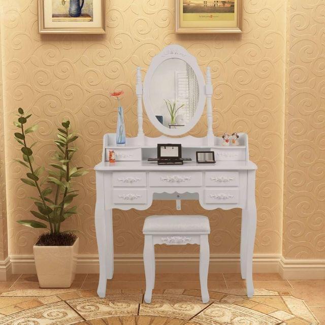 Muebles Tocador Espejo. Muebles De Madera De Maquillaje Tocador ...