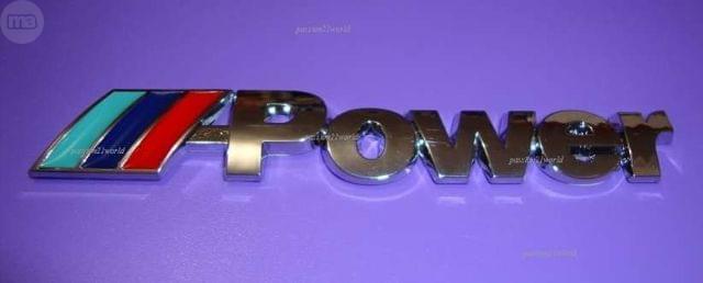 EMBLEMA BMW M POWER