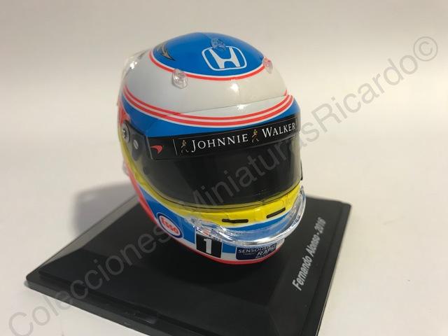 Fernando Alonso Mclaren Honda Fórmula 1 2016 Casco 1:8 spark