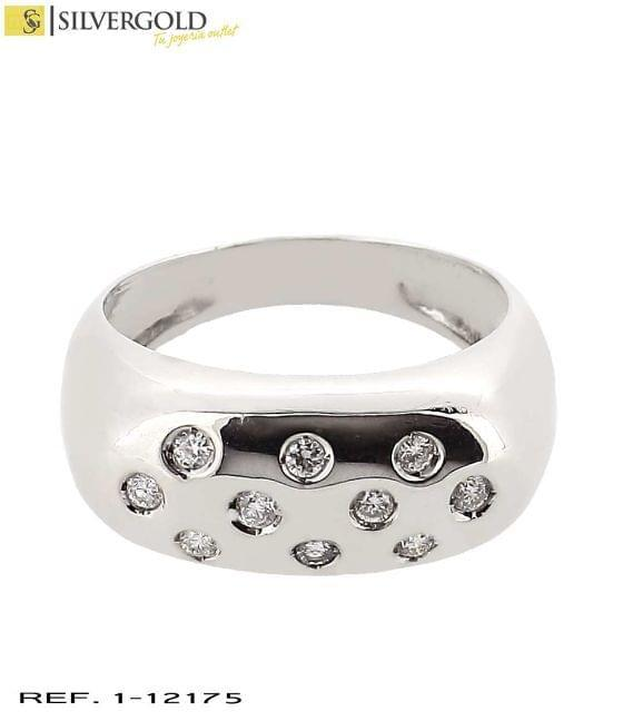1-12175 ANILLO ORO BLANCO 18KT. DIAMANTE