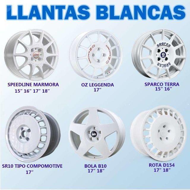 LLANTA BLANCAS SPEEDLINE, SPARCO, OZ, BOLA,