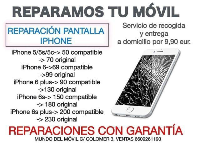 REPARACION PANTALLA IPHONE 5 5C 5S