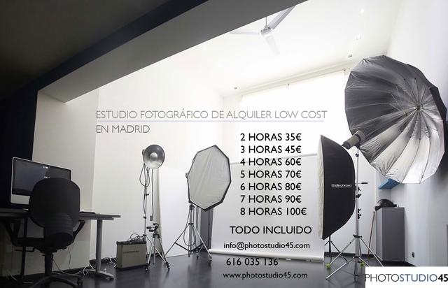 ALQUILER ESTUDIO FOTOGRÁFICO MADRID LOW