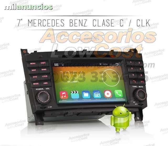 RADIO DVD ANDROID 7 HD MERCEDES CLC CLK