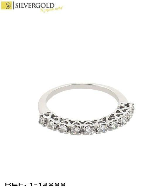 1-13288 ANILLO ORO BLANCO 18KT. DIAMANTE
