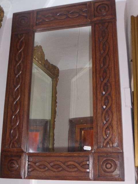 espejo marco madera tallada