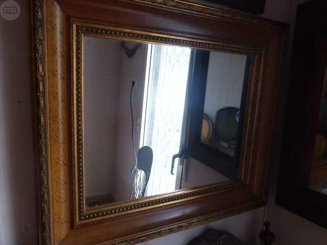 Espejo De Marco De Oro Casa de Muñecas de 1//12 R3L7