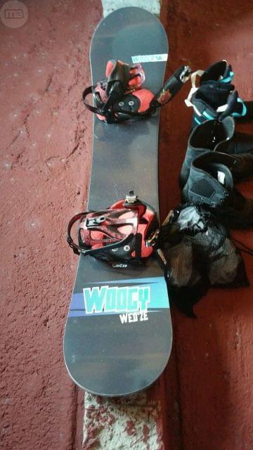 TABLA SNOW CON FIJACIONES Y SOLO 4 USOS - foto 2