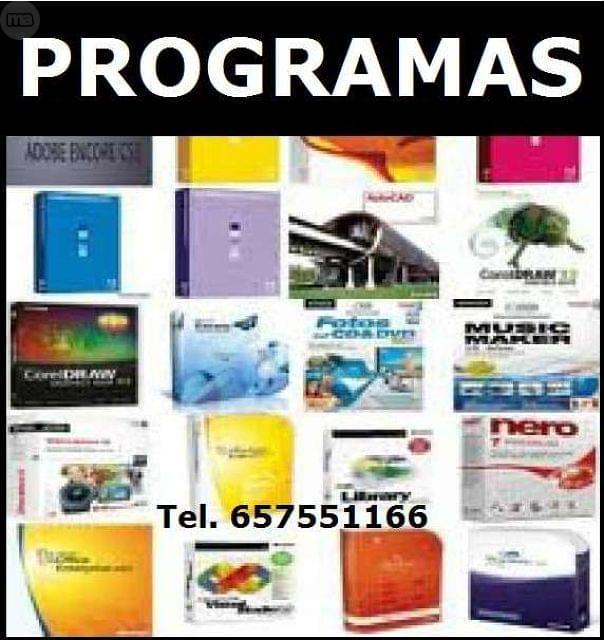 TODOS PROGRAMAS-PRECIO MINIMO-DESDE 5