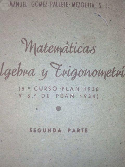 Libro Antiguo De Matematicas.