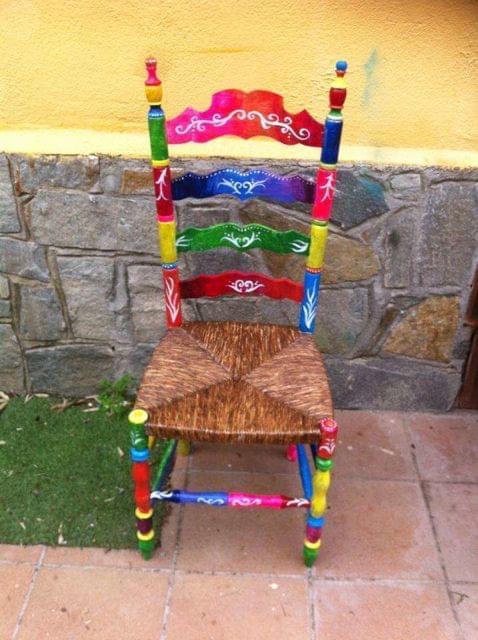 Sillas Colores.Silla Vintage Pintada Colores