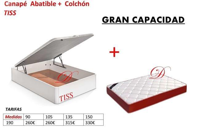 Colchones De 105.Canape Tiss 105 X190 Colchon V22