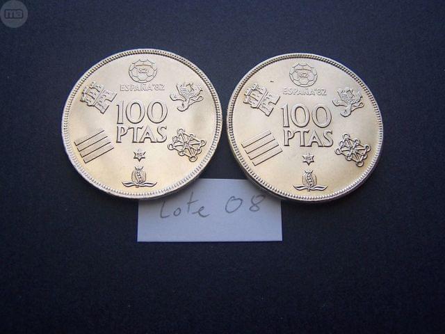 Dos Monedas De 100 Pesetas 1980 Sc (**)