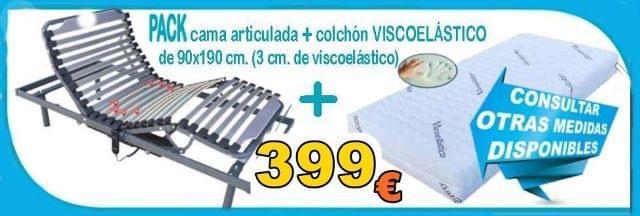 CAMA ARTICULADA ELECTRICA COLCHON VISCO