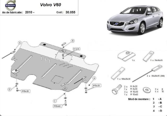 . 2000 2010 Cubremaletero en PVC para Volvo S60