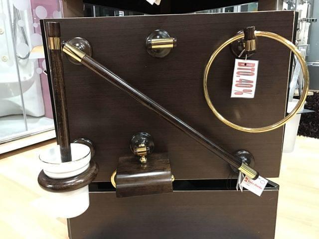 MIL ANUNCIOS.COM - Juego de 5 accesorios de baño madera