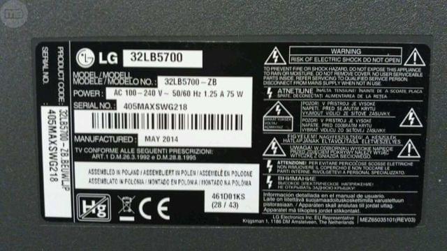 RECAMBIOS TV LG MOD. 32LB5700-ZB