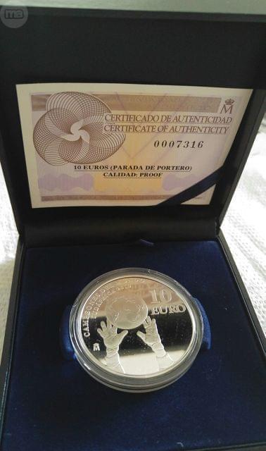 Moneda Plata Campeones Del Mundo 2010